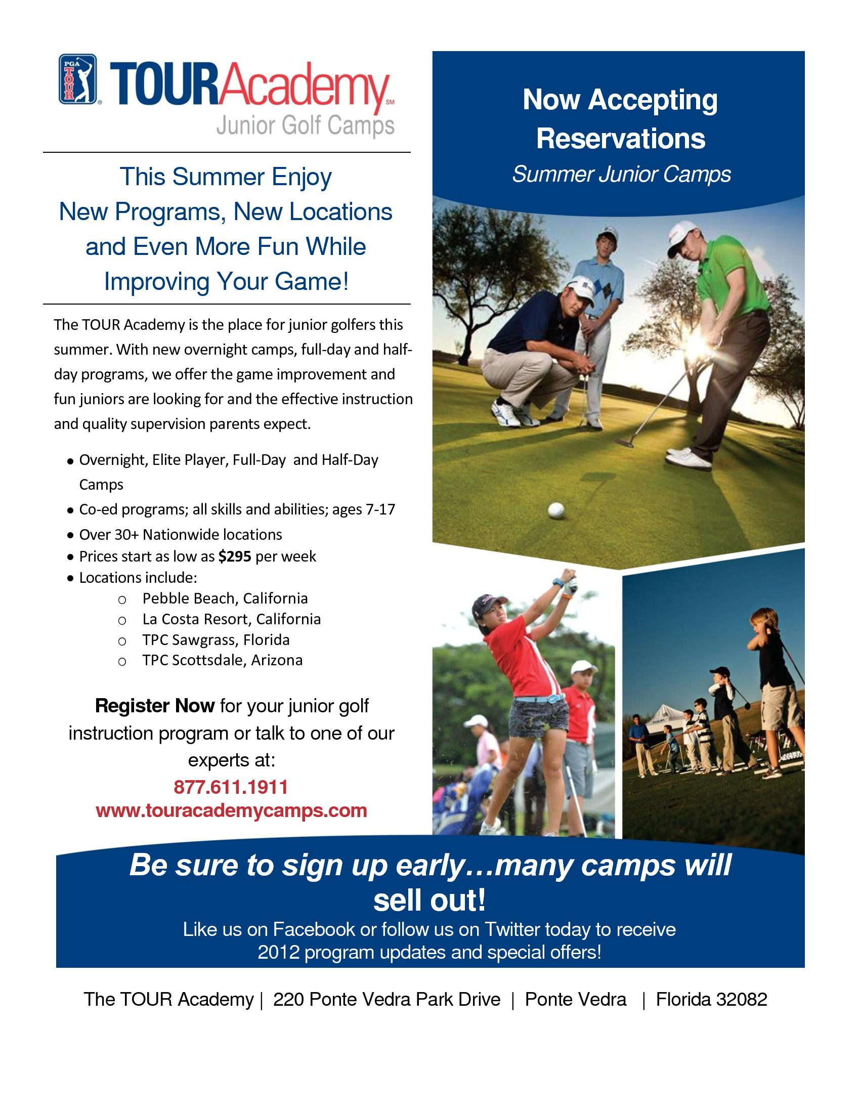 Tour Academy Junior Golf Camps